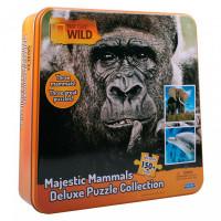 Uncle Milton Пазл 3 в одном в жестяной коробке Nat Geo Wild Games & Puzzles 16446 150 элементов