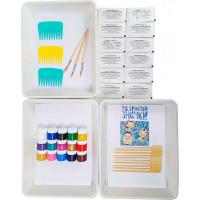 Unid Фэмили набор для рисования на воде Эбру Индиго