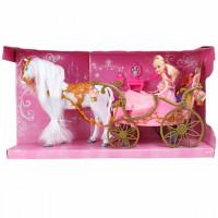 Veld CO Игровой набор Карета с лошадью и принцесса