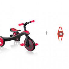 Велосипед трехколесный Globber беговел Trike Explorer 2 в 1 и габаритный фонарь
