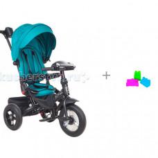 Велосипед трехколесный Mars Mini Trike T400 Jeans и набор формочек Нордпласт Крепость
