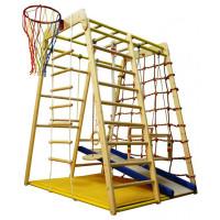 Вертикаль Детский спортивный комплекс Весёлый Малыш Wood горка мягкий бортик