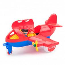 Viking Toys Джамбо самолёт 30 см с 2 фигурками