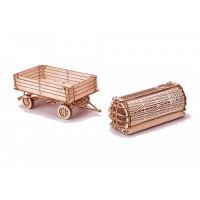 Wood Trick Механическая сборная модель Прицепы для трактора
